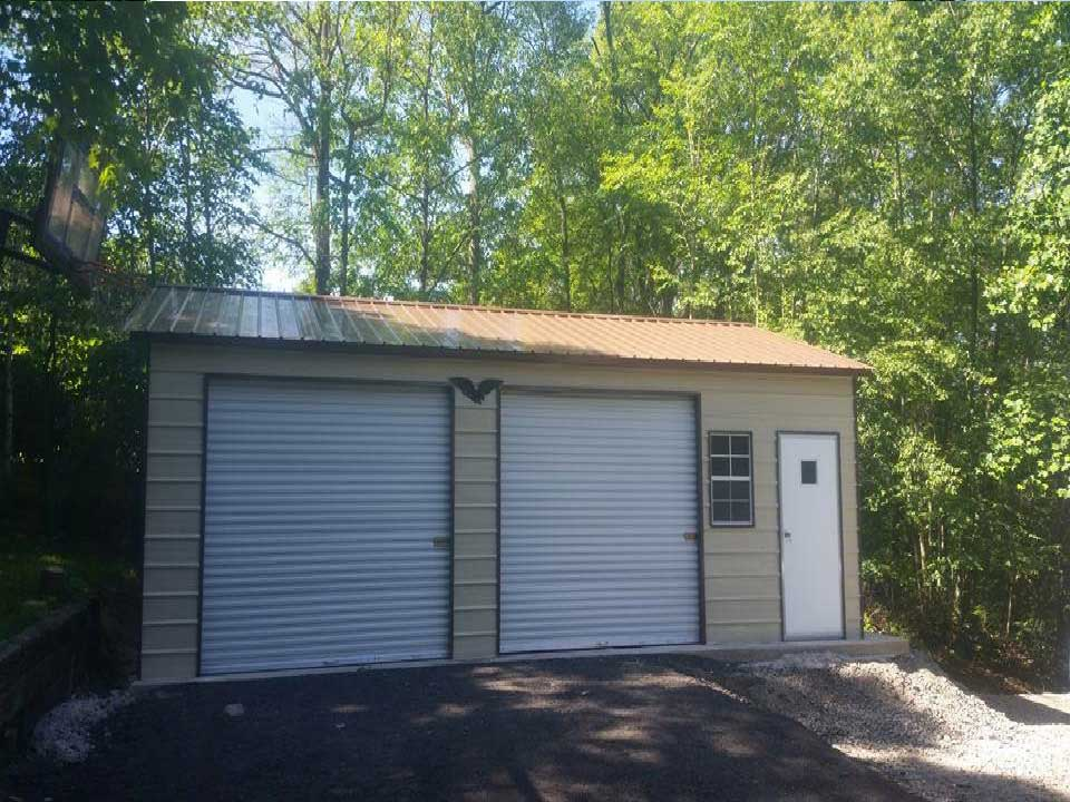 Side Entry Garage With Two Garage Doors Rd Carports Rv